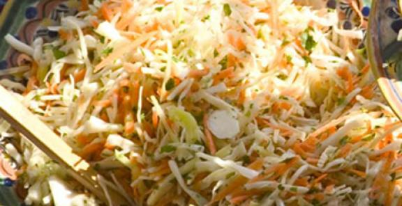 mexican coleslaw and margaritas