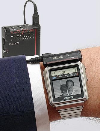 Seiko TV Watch - black and white