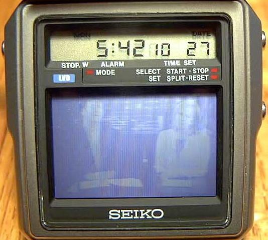 Seiko TV Watch worlds smallest TV 1982