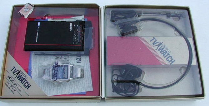 seiko tv watch packaged unit